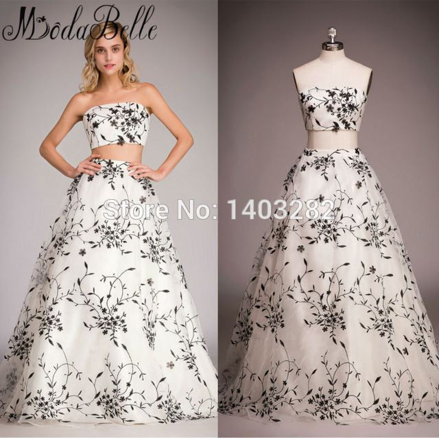 Chinese Style 2 Piece Prom Dresses Party A-Line Vestidos De Baile Two Pieces 2017 Sexy Haute Couture Pageant Dresses Real Photos