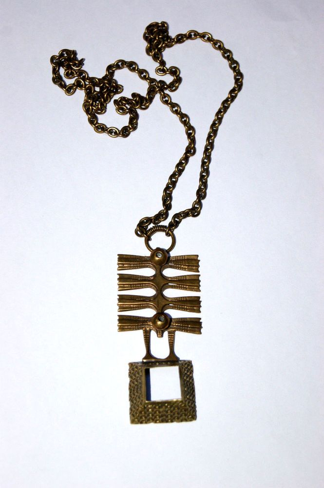 Vintage Pendant  Bronze Kette mit Anhänger Pentti Sarpaneva Finnland  | eBay