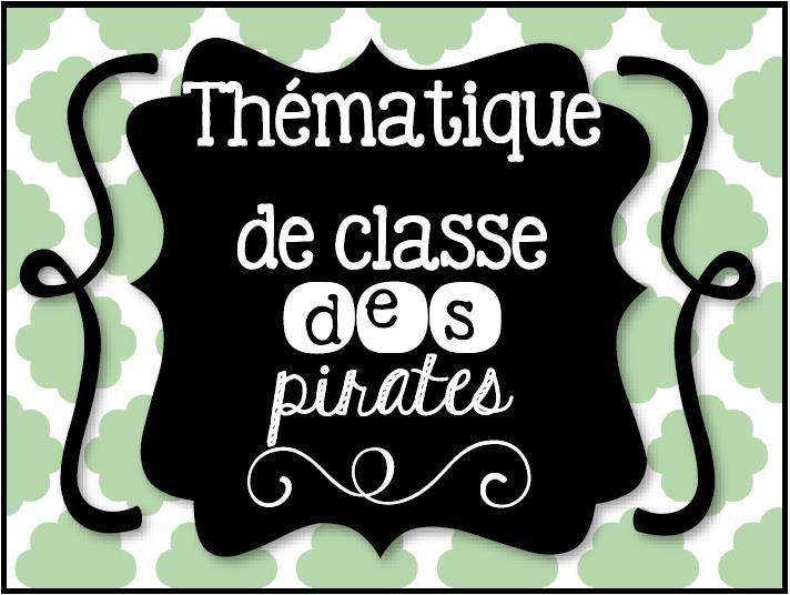 Thématique de classe des pirates