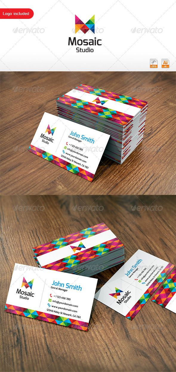 95 best print templates images on pinterest print templates mosaic studio business card by thearslan reheart Images