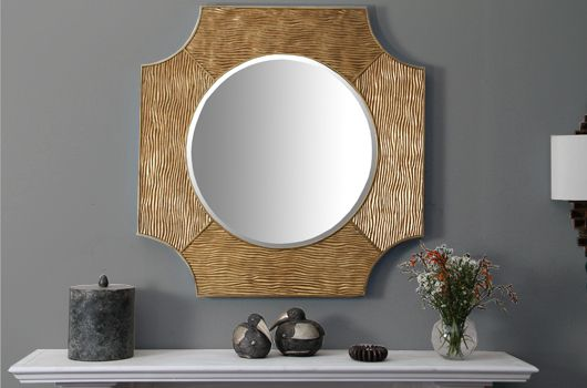 Our Lucas gold mirror is hand carved and cast in gold metal leaf with antique finish. Amazingly elegant this mirror accentuates any room with style, grace and beautiful design, it works particularly well above a console table or mantelpiece. We love it with both contemporary and more traditional home décor. This hall mirror makes a perfect gift present for any occasion.