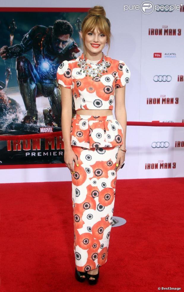 bella thorne ironman 3 movie premiere | Bella Thorne lors de lavant-première du film Iron Man 3 à Hollywood ...