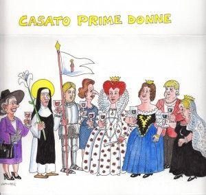 Ecco le  Prime Donne del vignettista Emilio Giannelli  in occasione del Premio che porta il nome della cantina al femminile di Donatella Cinelli Colombini