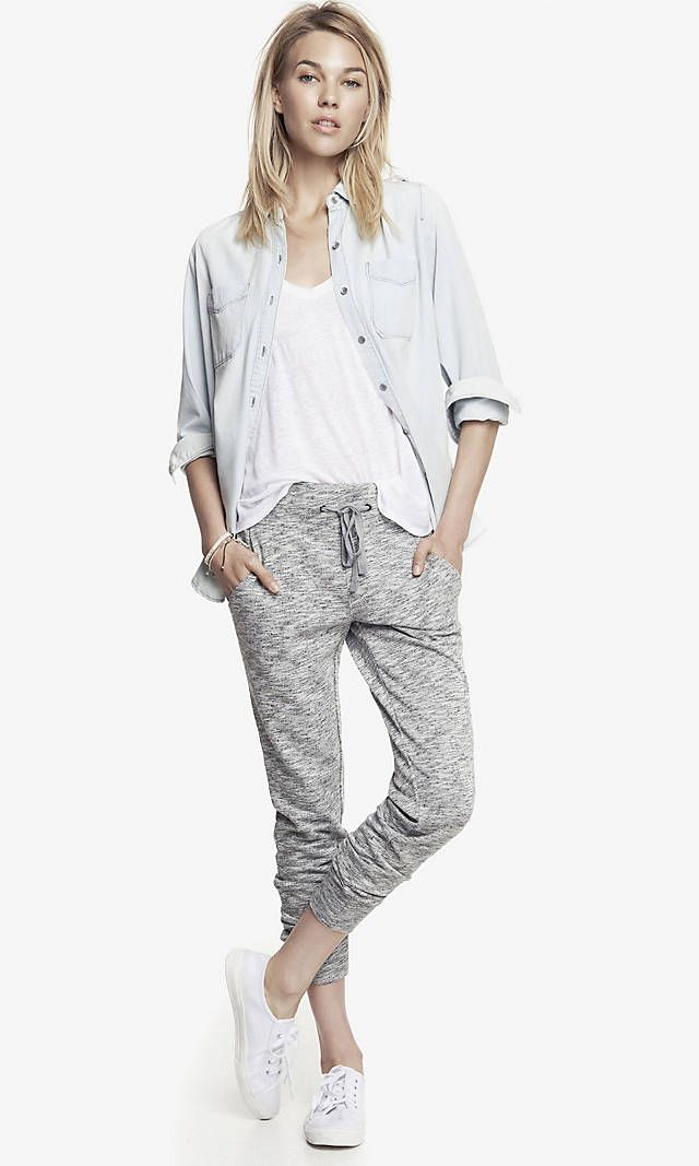 FRENCH TERRY SLIM JOGGER PANT | Express