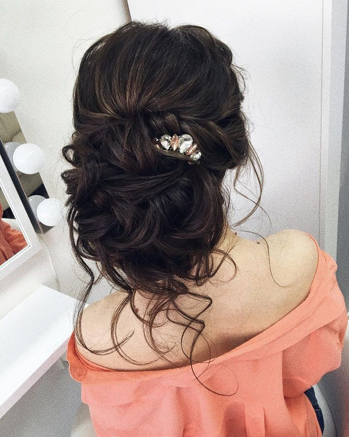 Updo wedding hairstyle inspiration | elegant chignon bridal
