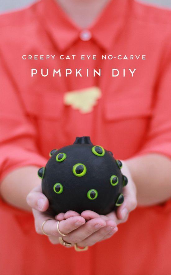 no carve pumpkin project #halloween