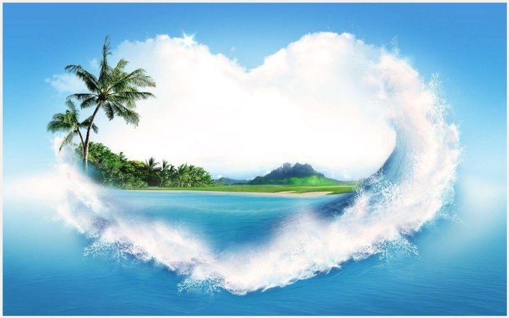Heart Shaped Island Wallpaper | heart shaped island wallpaper