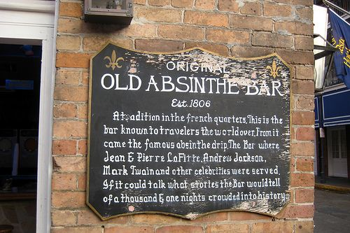 New Orleans - French Quarter: Absinthe House Bar.  Any place where Mark Twain and Andrew Jackson used to drink is cool with me.