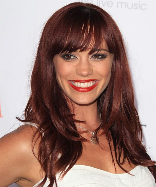 Jessica Sutta - Formal Long Straight Hairstyle. Click on the image to try on this hairstyle and view styling steps!