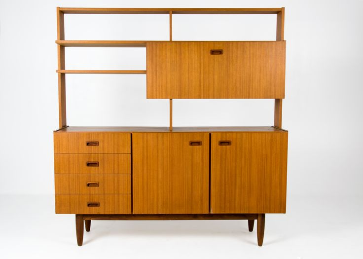 Form follows function with this solid mid-century modern cabinet room divider by Elite Furniture, Sydney. c1970s
