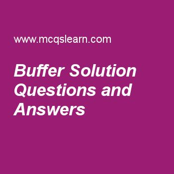 Buffer Solution Questions and Answers
