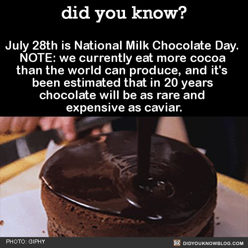 Source(s) on our blog, below the photo: http://didyouknowblog.com/post/125293693459/hey-happy-chocolate-day-dont-eat-any-cuz-were