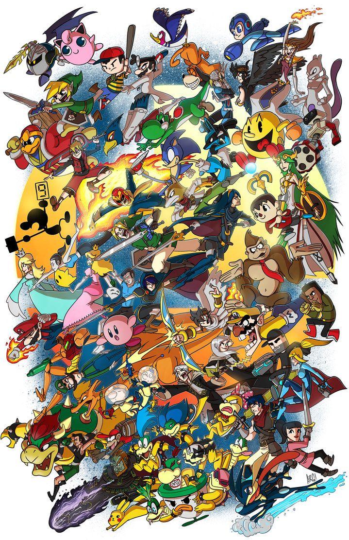 Super Smash Bros! by IAMARG on deviantART