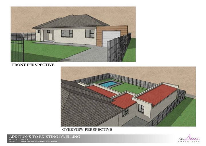Perspective drawings for a client in Pinelands