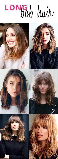 Para as de cabelo liso ou ondulado -Escolhemos os nossos cortes long bob hair preferidos pra te inspirar!