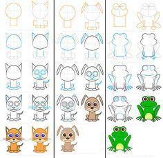 Cómo dibujar... ¡animales fáciles! Cómo dibujar animales fáciles. Más de 20 dibujos de animales paso a paso para aprender a dibujar. Dibujo infantil paso a paso, aprender a dibujar animales.