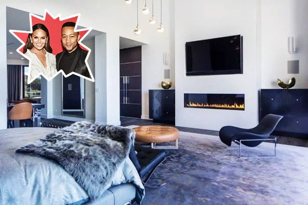 Chrissy Teigen & John Legend - The Best Celebrity Bedrooms - Photos