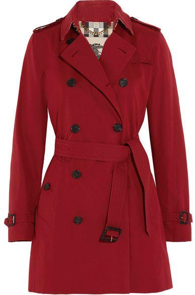 Burberry - The Kensington Mid Cotton-gabardine Trench Coat - Red