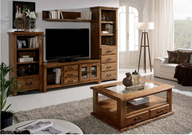 Modular r stico tv furniture inspiration pinterest - Muebles de salon rusticos ...