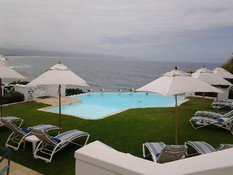 The pool deck at The Plettenberg Hotel, Garden Route