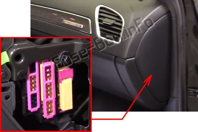 Audi A4/S4 (B8/8K; 2008, 2009, 2010, 2011, 2012, 2013, 2014, 2015, 2016) Fuse  box location   Audi a4, Small luxury cars, Audi   Acura Nsx Fuse Box Diagram      Pinterest