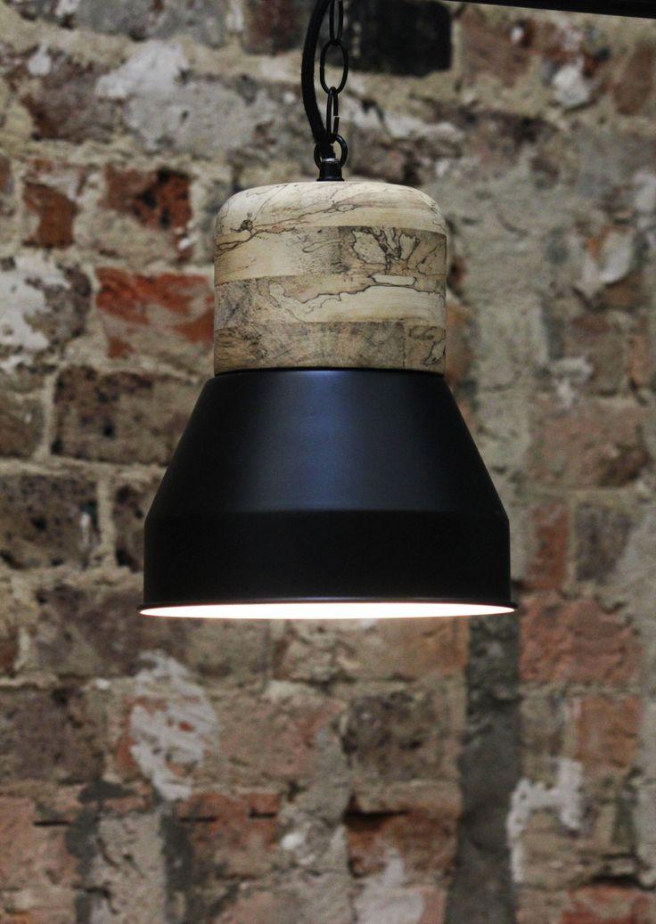 Milje black wood/metal pendant light