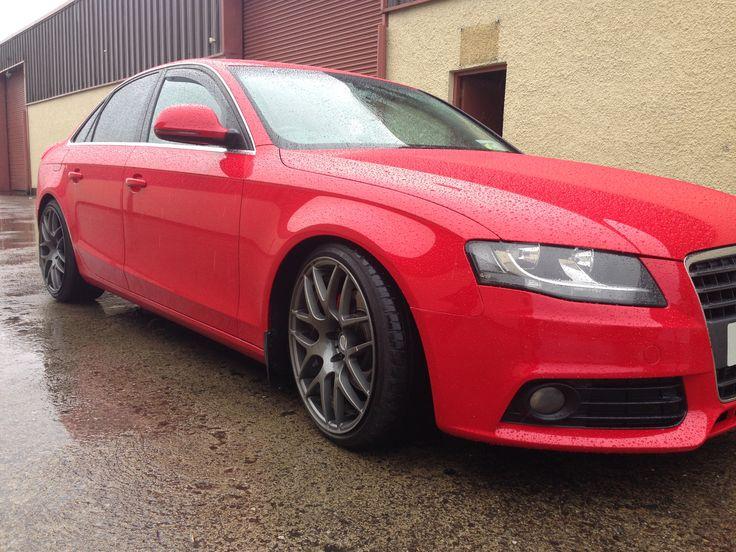 Audi wheels done in gun metal grey by Donegal powdercoating company