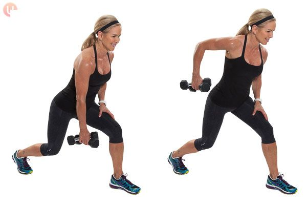 Moves like the single arm row will help strengthen and tone your shoulders and back.