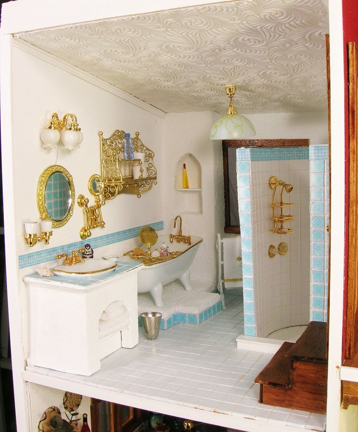 134 Best Images About The Miniature Bathroom On Pinterest