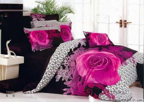 Pink And Black Bedding Sets #pinkandblack #bedding #pink