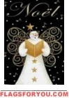 Caroling Snow Angel Garden Flag - 1 left