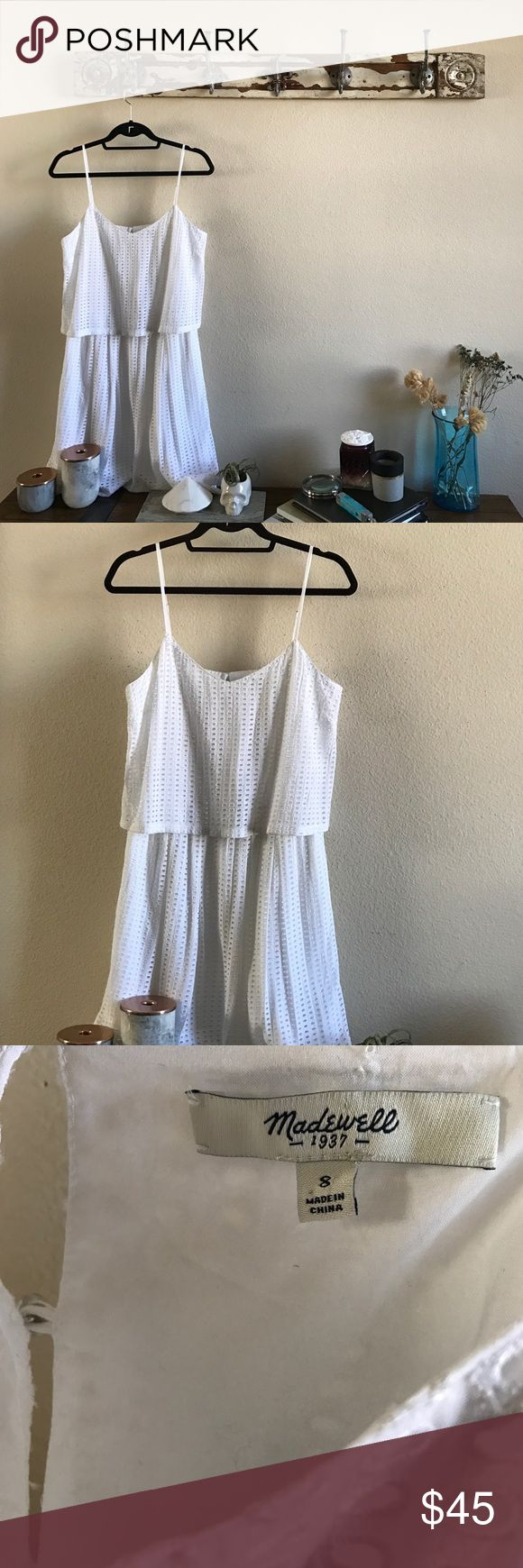 MADEWELL Eyelet Summer Dress NWOT and in perfect condition. LOVEEEE the chic silver hardware. I now offer 20% off any 2! Madewell Dresses