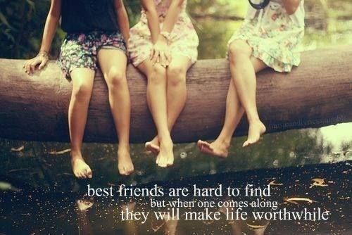 Best friends are hard to find but when one comes along they will make life worthwhile.