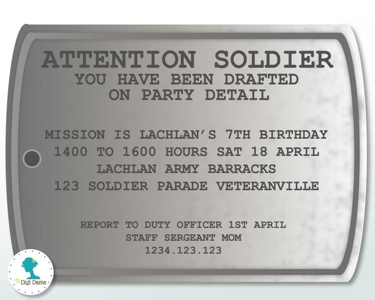 Party Decoration Ideas:Theme Spotlight - Army Party Ideas and a FREE Printable