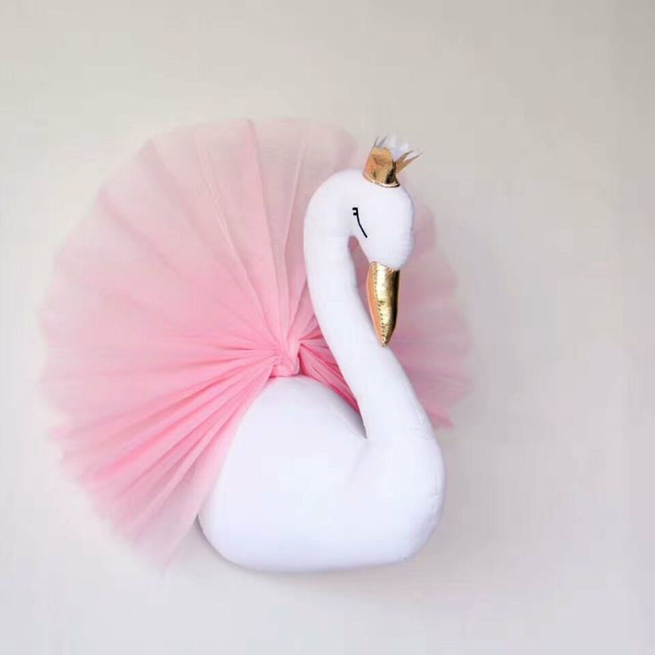 Lovely Golden Crown Small Swan Wall Hanging Decorations Kids Room Wall Decorative-in Wind Chimes & Hanging Decorations from Home & Garden on Aliexpress.com | Alibaba Group