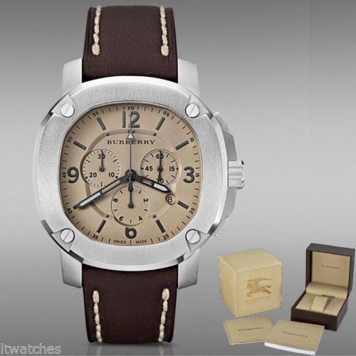 17 best ideas about burberry mens watches men s luminova brown leather burberry men chrono watch menswomenswatches com