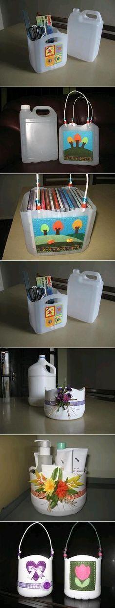 DIY Plastic Bottle Baskets DIY Plastic Bottle Baskets: