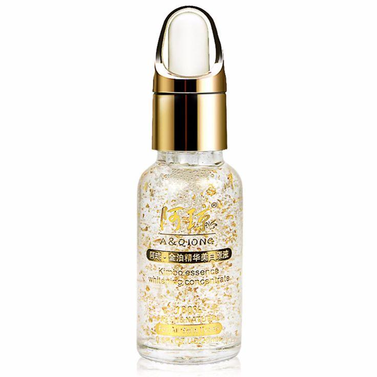 2017 Hot 24k Pure Gold Foil Anti-aging Essence Hyaluronic Acid Liquid Cream Skin Care