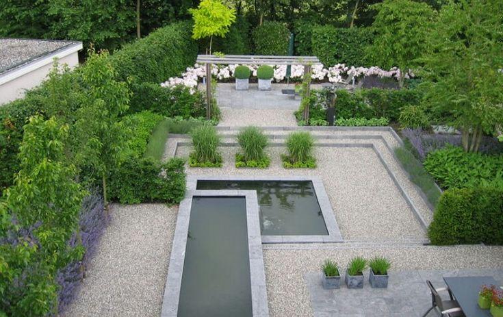 Moderne strakke tuin tuin idee n pinterest gardens tuin and water features - Tuin ideeen ...