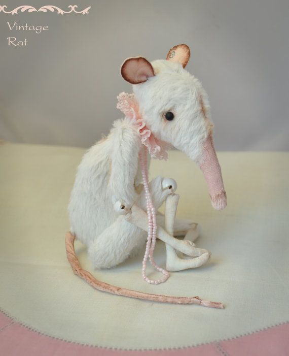 MADE to order  OOAK stuffed animal Rat toy. by RatBerryToys, $250.00