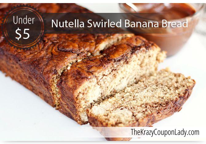 Nutella swirled banana bread | Recipes | Pinterest