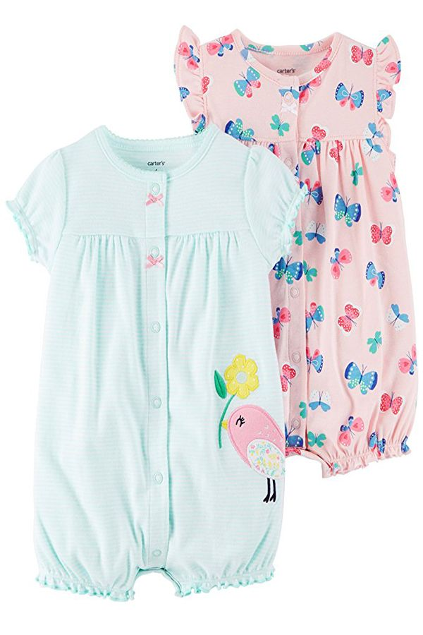 6a0ace879fa7 Carter s Baby Girls  2-Pack Romper