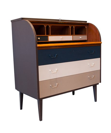 retro painted furniture - Google Search