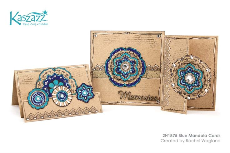 2H1875 Blue Mandala Cards