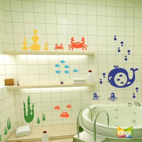 10 best VINILOS PARA BAÑO images on Pinterest | Wall decor, Bathroom ...