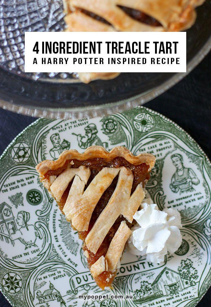 4 Ingredient Treacle Tart A Harry Potter Inspired Recipe My Poppet Living Recipe Treacle Tart Picky Eater Recipes Tart Recipes