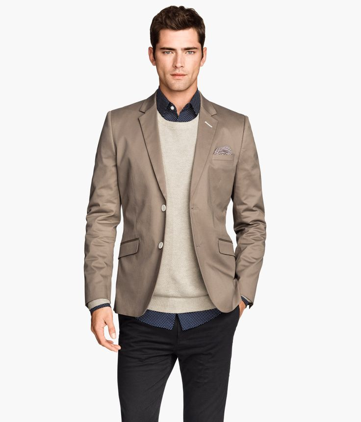 Mens Grey Blazer Handm