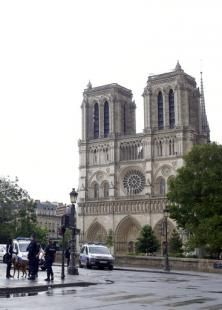 """Authorities say an assailant wielding a hammer attacked Paris police guarding  Notre Dame Cathedral, crying """"This  is for Syria"""" before being shot and  wounded by officers outside one of  France's most popular tourist sites   Man attacks Paris police with tool at Notre Dame 'for Syria'NowThe Associated Press — By PHILIPPE SOTTO And ELAINE GANLEY - Associated Press  1/13  PARIS (AP) — An assailant wielding a hammer attacked Paris police guarding Notre Dame Cathedral Tuesday, crying"""