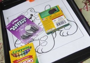 simple DIY travel tray or kids (magnetic and chalkboard) using dollar store pan