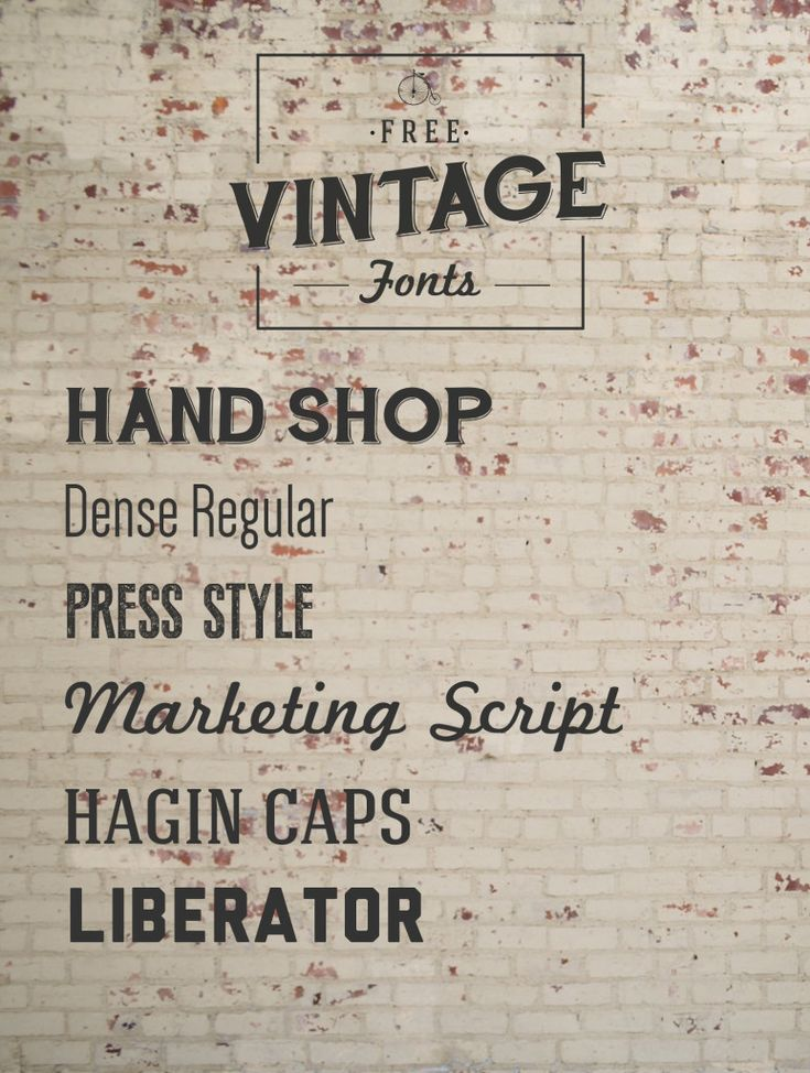 Font Must-Haves 004: Free Vintage Fonts Fonts, Vintage